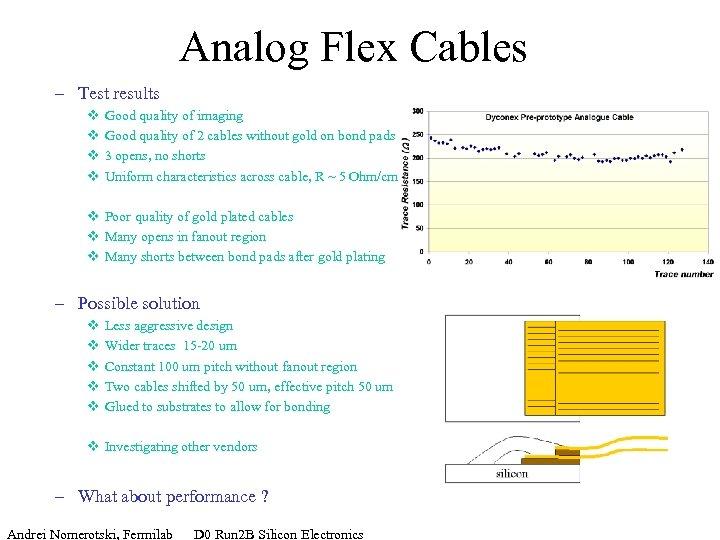 Analog Flex Cables – Test results v v Good quality of imaging Good quality
