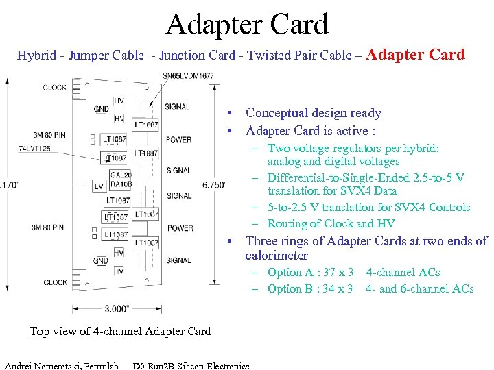 Adapter Card Hybrid - Jumper Cable - Junction Card - Twisted Pair Cable –