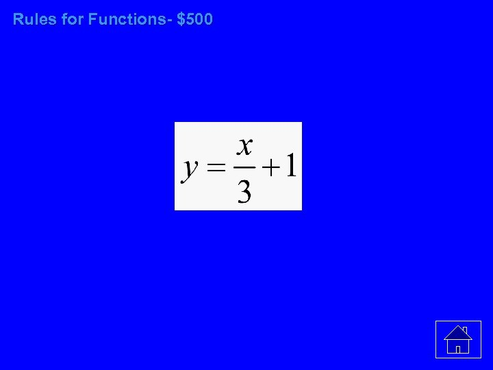 Rules for Functions- $500