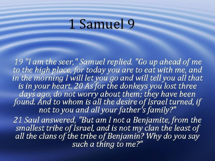 1 Samuel 9 19