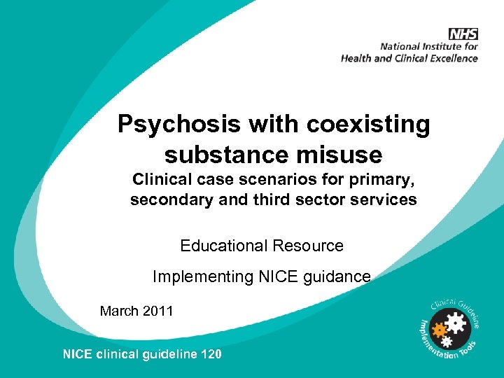 Psychosis with coexisting substance misuse Clinical case scenarios for primary, secondary and third sector