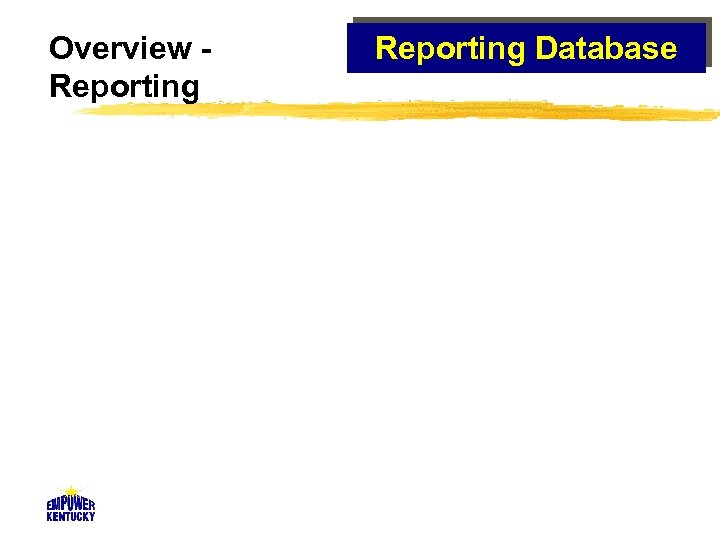 Overview Reporting Database