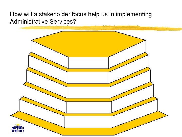 How will a stakeholder focus help us in implementing Administrative Services?