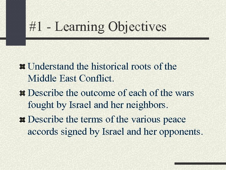 the history of the standing conflict in the middle east Overview the united nations cooperates with regional and international partners in efforts to defuse tensions, encourage improvements on the ground, and advance political negotiations toward a two-state solution to the israeli-palestinian conflict as well as a comprehensive, just and lasting peace in the middle east.