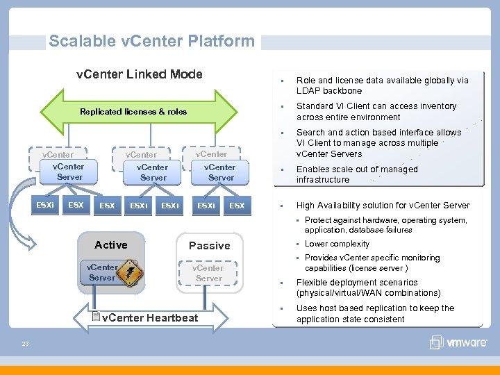 Scalable v. Center Platform v. Center Linked Mode § § v. Center Server v.