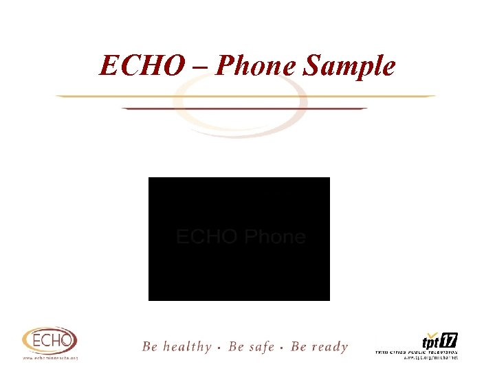 ECHO – Phone Sample