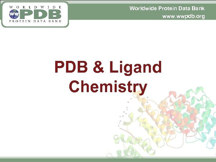 Worldwide Protein Data Bank www. wwpdb. org PDB & Ligand Chemistry