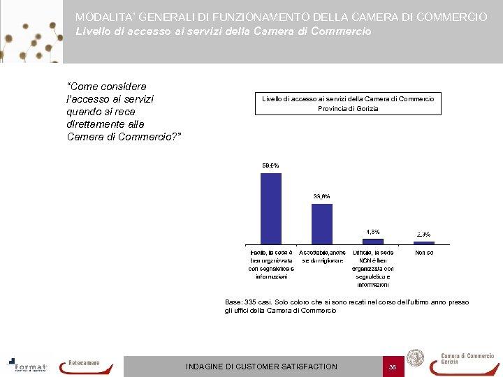 MODALITA' GENERALI DI FUNZIONAMENTO DELLA CAMERA DI COMMERCIO Livello di accesso ai servizi della