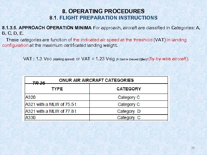 8. OPERATING PROCEDURES 8. 1. FLIGHT PREPARATION INSTRUCTIONS 8. 1. 3. 5. APPROACH OPERATION