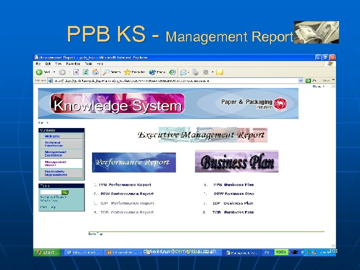 PPB KS - Management Report chaweeww@cementhai. co. th 101