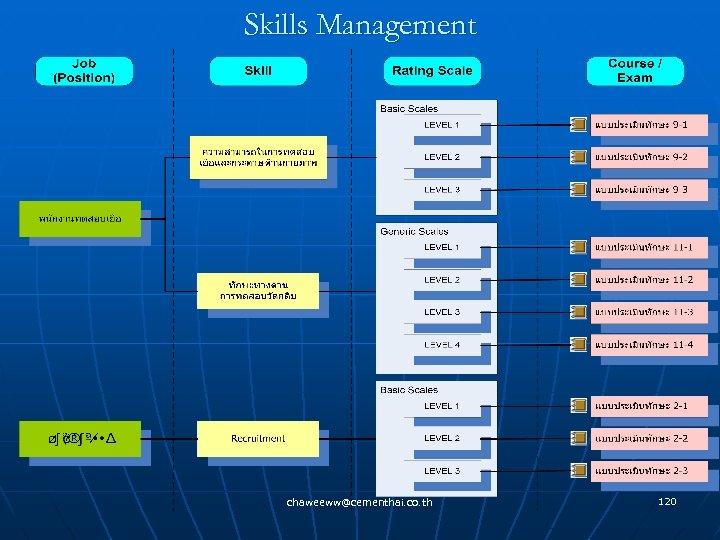 Skills Management chaweeww@cementhai. co. th 120