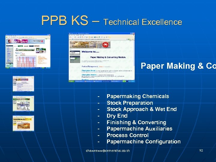PPB KS – Technical Excellence Paper Making & Co - Papermaking Chemicals - Stock