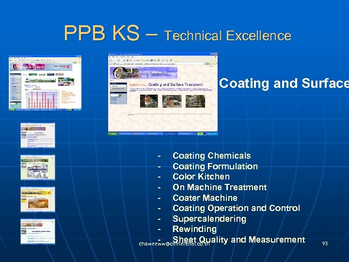 PPB KS – Technical Excellence Coating and Surface - Coating Chemicals - Coating Formulation