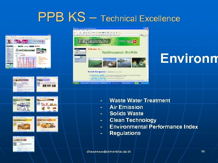 PPB KS – Technical Excellence Environm - Waste Water Treatment - Air Emission -