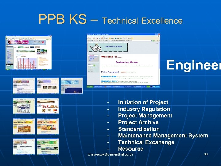 PPB KS – Technical Excellence Engineer - Initiation of Project - Industry Regulation -
