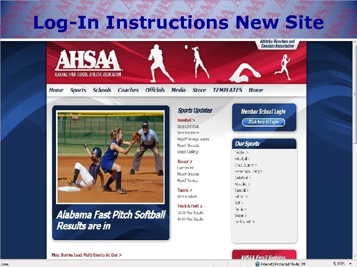 Log-In Instructions New Site