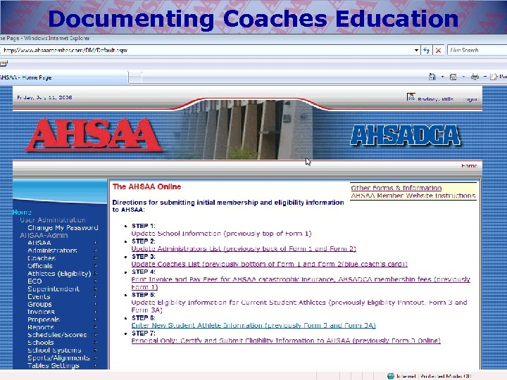 Documenting Coaches Education Classes