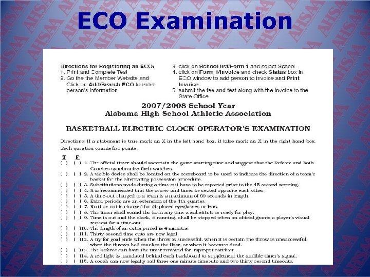 ECO Examination