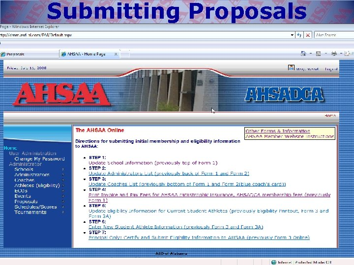 Submitting Proposals