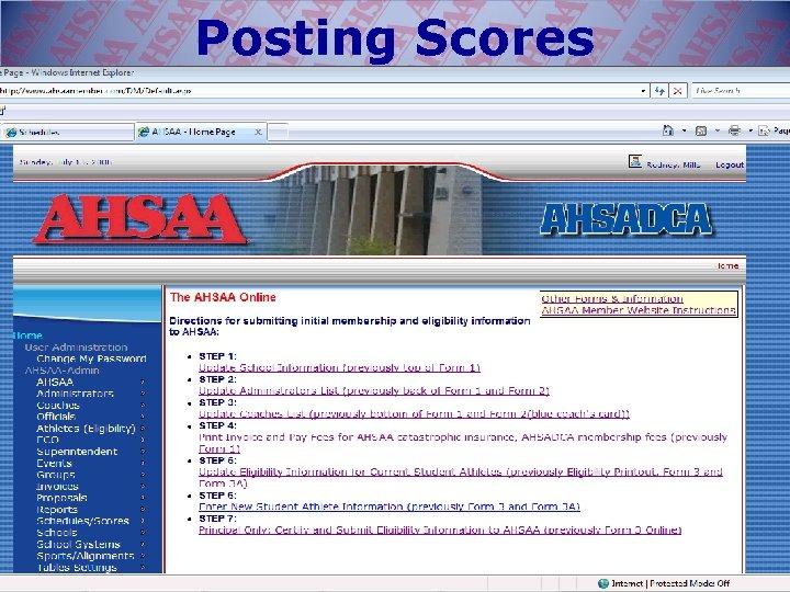 Posting Scores