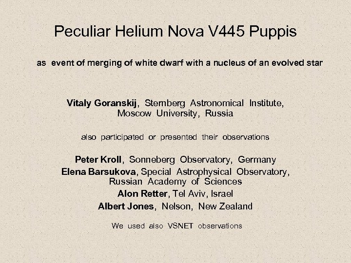 Peculiar Helium Nova V 445 Puppis as event of merging of white dwarf with