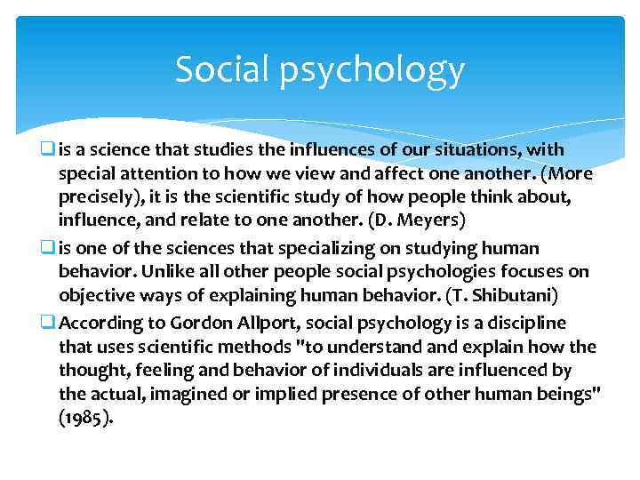 syllabus social psychology and points objectives Social psychology 1 social psychology course syllabus course code: soc 315  objectives assignments learning outcomes module 1: discovering social psychology  total points percentage average letter grade 1260 - 1400 90 – 100 % a 1120 - 1259 80 – 89 % b.