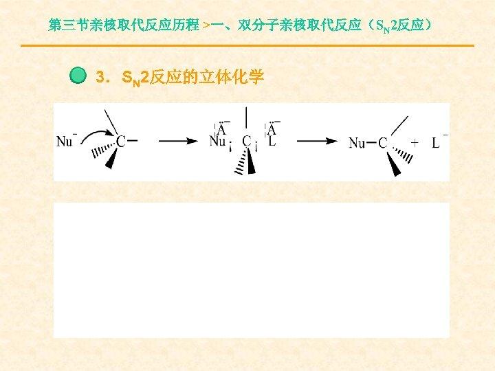 第三节亲核取代反应历程 >一、双分子亲核取代反应(SN 2反应) 3.SN 2反应的立体化学