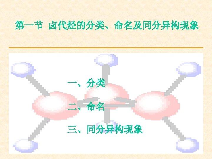 第一节 卤代烃的分类、命名及同分异构现象 一、分类 二、命名 三、同分异构现象