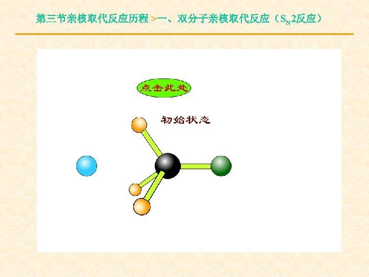 第三节亲核取代反应历程 >一、双分子亲核取代反应(SN 2反应)