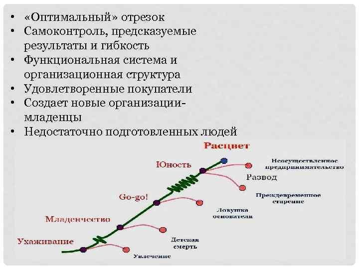 • «Оптимальный» отрезок • Самоконтроль, предсказуемые результаты и гибкость • Функциональная система и
