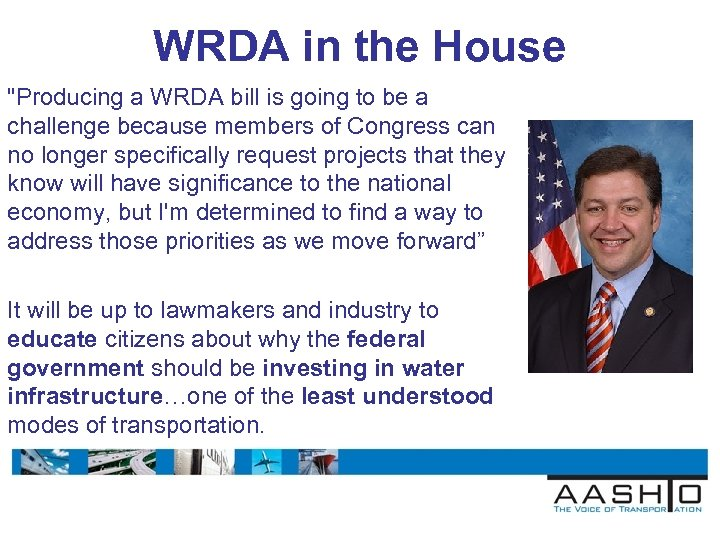 WRDA in the House
