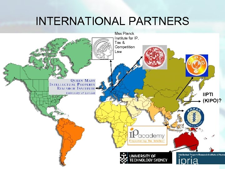 INTERNATIONAL PARTNERS Max Planck Institute for IP, Tax & Competition Law IIPTI (KIPO)?
