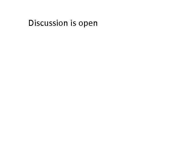 Discussion is open