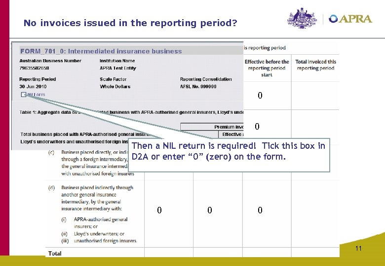 No invoices issued in the reporting period? 0 0 0 Then a NIL return
