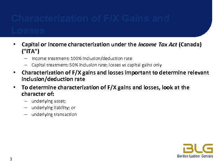 Tax law and forex gain irm milan investments inc