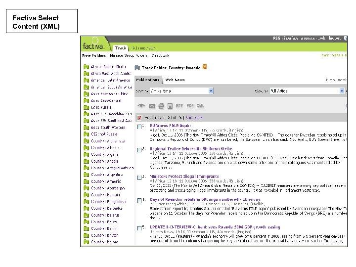 Factiva Select Content (XML)