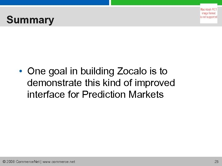 Summary • One goal in building Zocalo is to demonstrate this kind of improved