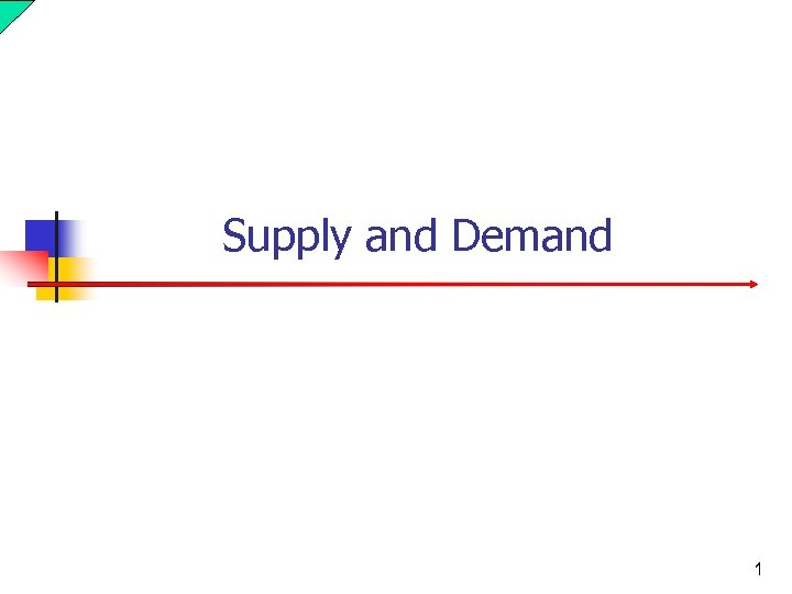 Supply and Demand 1