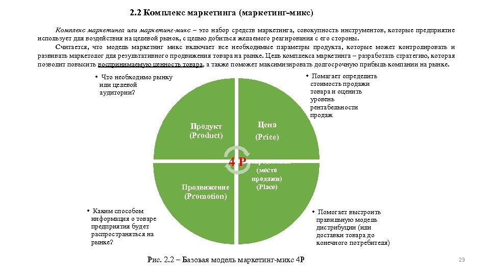 2. 2 Комплекс маркетинга (маркетинг-микс) Комплекс маркетинга или маркетинг-микс – это набор средств маркетинга,