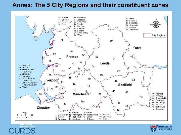 Annex: The 5 City Regions and their constituent zones