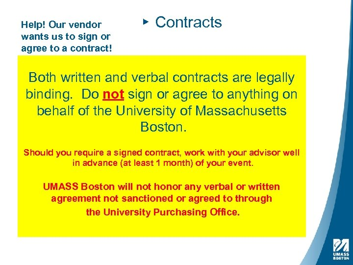 Help! Our vendor wants us to sign or agree to a contract! ▸ Contracts