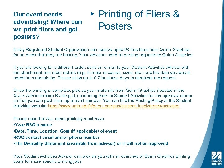 Our event needs advertising! Where can we print fliers and get posters? ▸ Printing