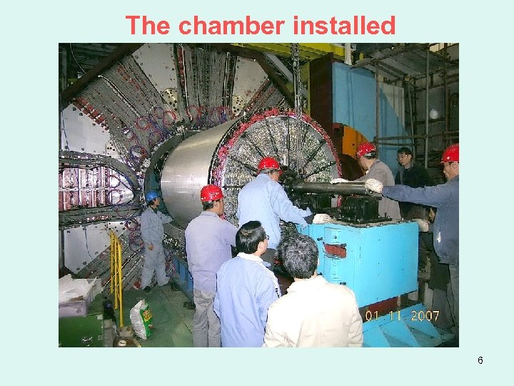 The chamber installed 6