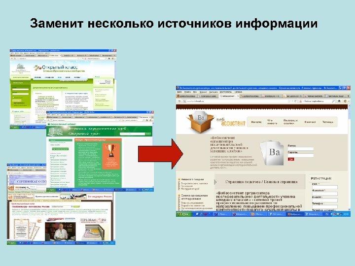 Заменит несколько источников информации