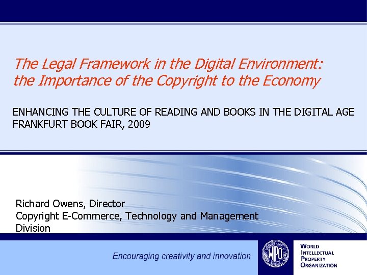 The Legal Framework in the Digital Environment: the Importance of the Copyright to the