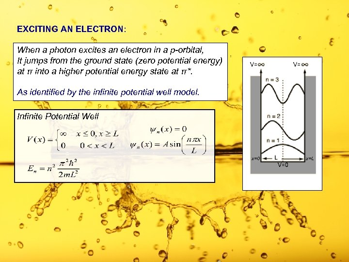 EXCITING AN ELECTRON: When a photon excites an electron in a p-orbital, It jumps