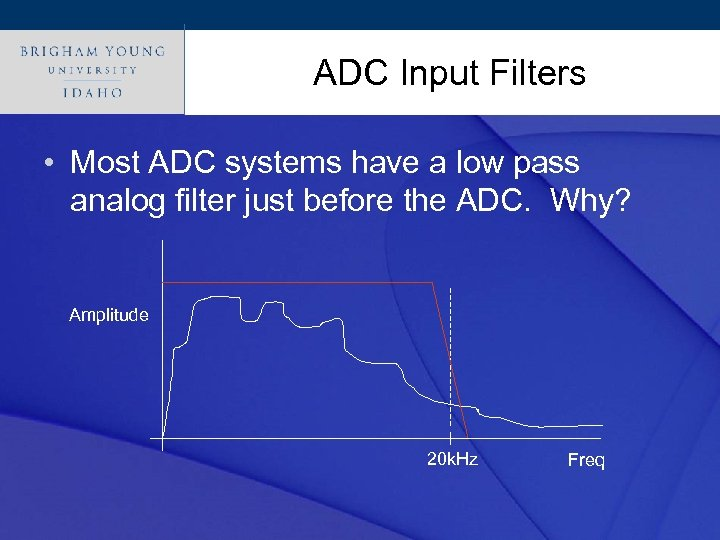 Click. ADC Input Filters style to edit Master title • Most ADC systems have