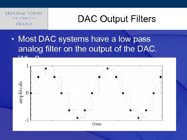 Click to edit Master title style DAC Output Filters • Most DAC systems have