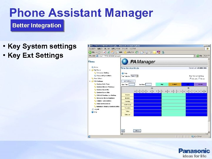 Phone Assistant Manager Better Integration • Key System settings • Key Ext Settings