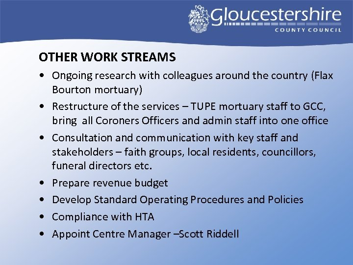 OTHER WORK STREAMS • Ongoing research with colleagues around the country (Flax Bourton mortuary)